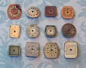 Dozen Tiny Vintage Watch Faces (WPF1051)