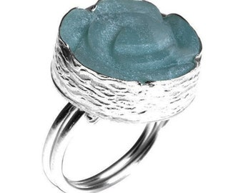 Amazonite Rose Ring