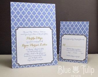 Quatrefoil Wedding Invitation