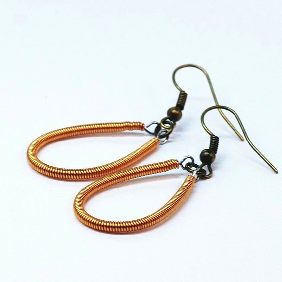 guitar string jewelry copper upcycled bass guitar string. Black Bedroom Furniture Sets. Home Design Ideas