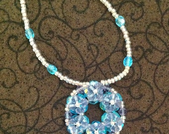 Blueberry Donut Beadwoven Necklace