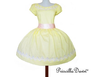 Lemon Buttercup Spring 2013 Doll Inspired Puffed Sleeved Dress Summer Wedding