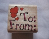 Hearts Tag To and From Heart Stamp