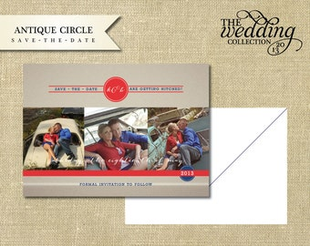 Antique Circle, Save-The-Date Sample Set