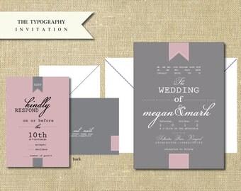 The Typography Invitation Sample Set