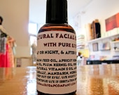 All Natural Facial Oil with essential oil blend- 2 oz. Highly Praised with lots of feedback-great for all skintypes