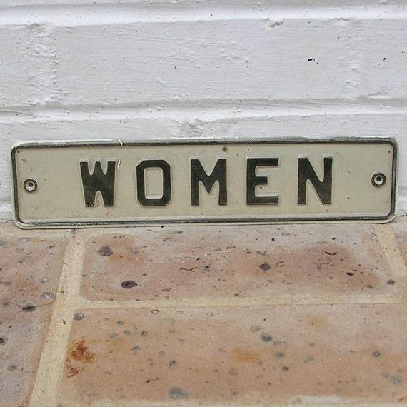 Vintage Restroom Sign Vintage Metal Restroom Sign Vintage