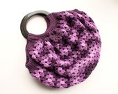 Free Ship - Big Granny Purple Shades Bag/Purse, crochet