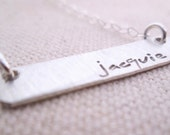 Personalized Jewelry - Silver Bar Necklace - Mothers Necklace - Name Necklace - Personalized Silver Bar