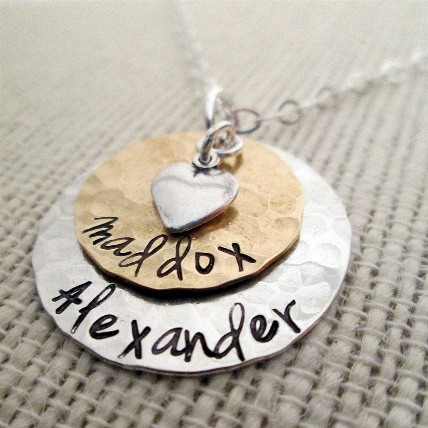 layered love mom necklace hand stamped necklace. Black Bedroom Furniture Sets. Home Design Ideas