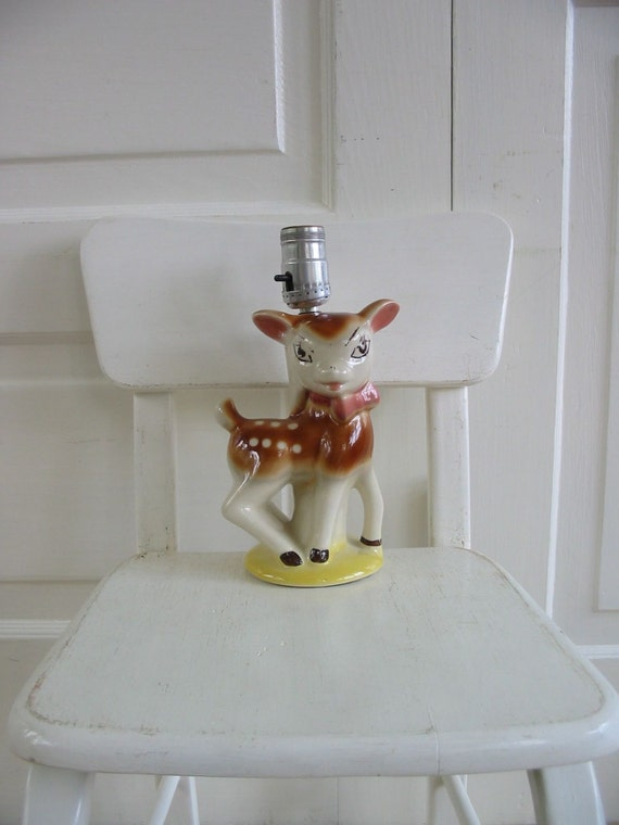 Vintage Deer Lamp Children Nursery Baby Bambi
