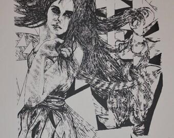 Tangled & Intertwined - Original Screenprint