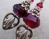 Luxurious- Artisan Lampwork and Sterling Earrings- Cynensemble