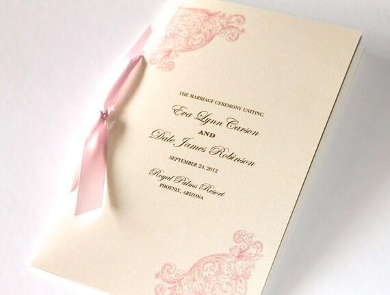 Eva vintage style booklet wedding ceremony program minimum order