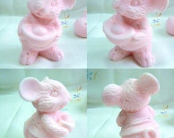 3D Silicone Soap and Candle Mold  -Lucky, Wealthy Mouse - free shipping