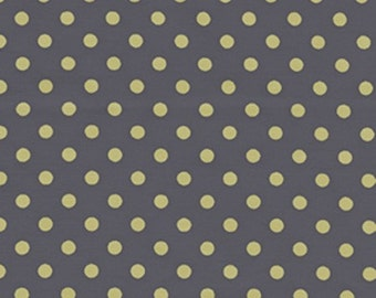 Citron Gray Pluto Dumb Dot fabric by Michael Miller CX2490
