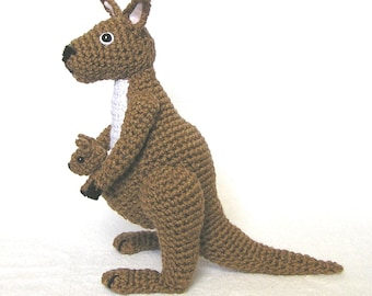 Crochet KANGAROO and BABY pattern
