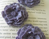 Beautiful Purple Large Poppy Flower Cabochon 42 mm 3 pieces