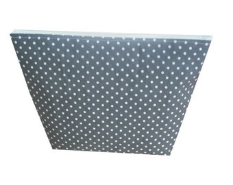 Polka Dot Print Cotton Make Up Bag in Charcoal Grey and White - Kitsch & Retro