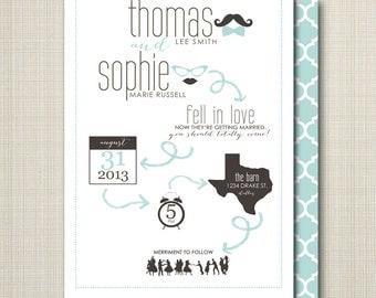 custom wedding invitation - pictogram.