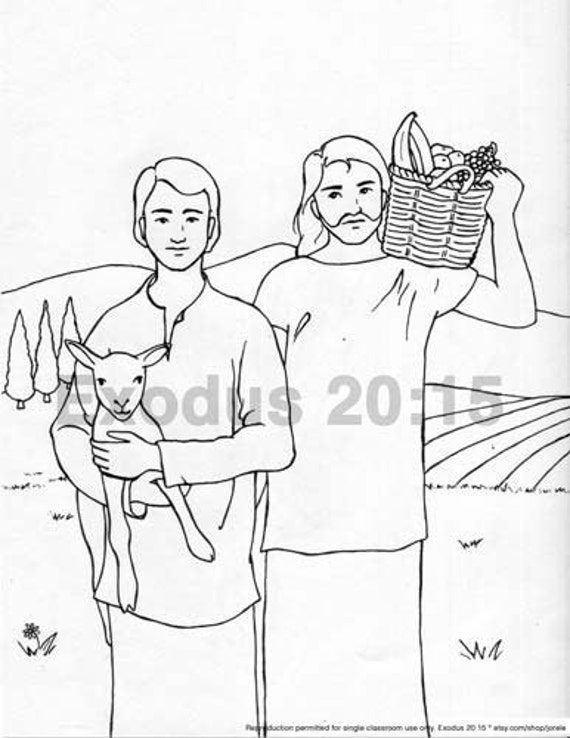 cain and abel coloring pages - photo#23