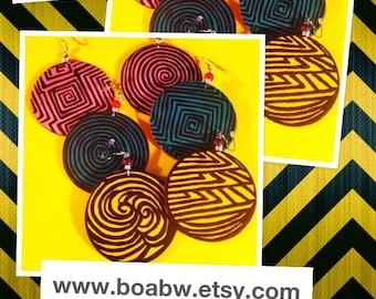 Maze Colorful Earrings