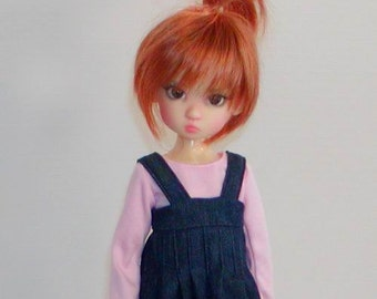 Denim Jumper -Wiggs MSD or SD BjD and similar MSD Ball Jointed Dolls