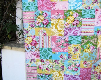 Jennifer Paganelli Circa Patchwork and Minky Blanket Made to Order
