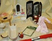 Destash Dollhouse/Miniature Bathroom/Dressing Room Lot 106