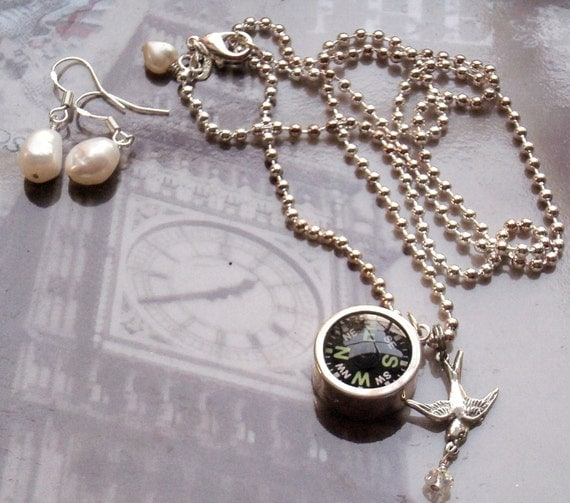 Do you know where you're going to sterling compass necklace
