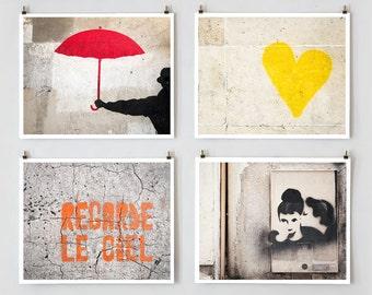 SALE! Fine Art Photography, Paris Gallery Wall Art Prints, Paris Graffiti Collection, Paris Photography, Extra Large Wall Art