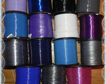 30 YDs Rexlace Gimp Plastic Lace - Blues, Silvers, & Purples - 2 Yds Each Color - Hair Falls, Lanyards, or Bird Toys