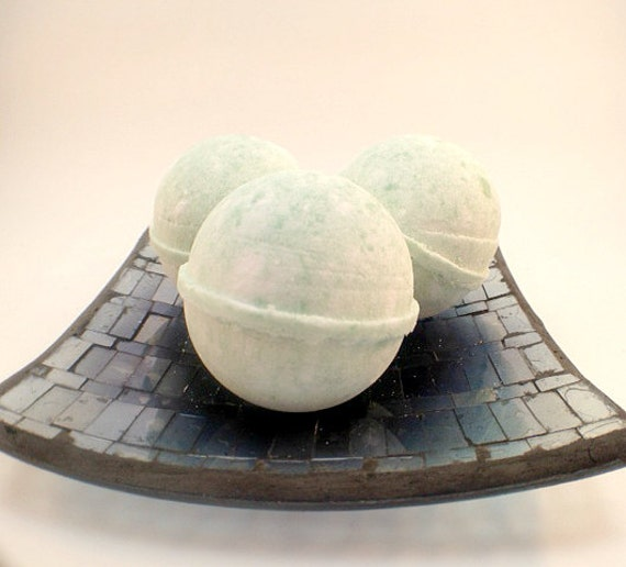 Set of 3 EARL GREY TEA Bath Bombs Made with by SoapsByAlexandra