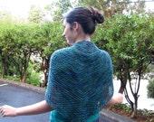 Gladys Heart-shaped Shawl - PDF Tunisian crochet pattern