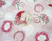 Paris theme fabric fat quarter nc51
