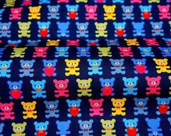 Japanese fabric Bear  print half meter nc12