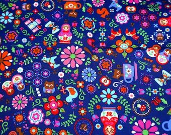 Matryoshka Russian dolls fabric (hb4)