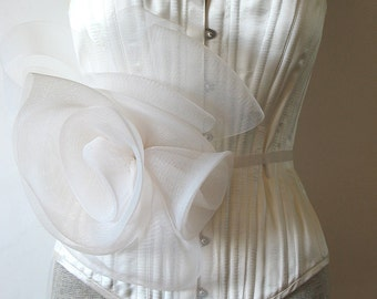 Bridal sash -  Ivory horsehair wedding belt
