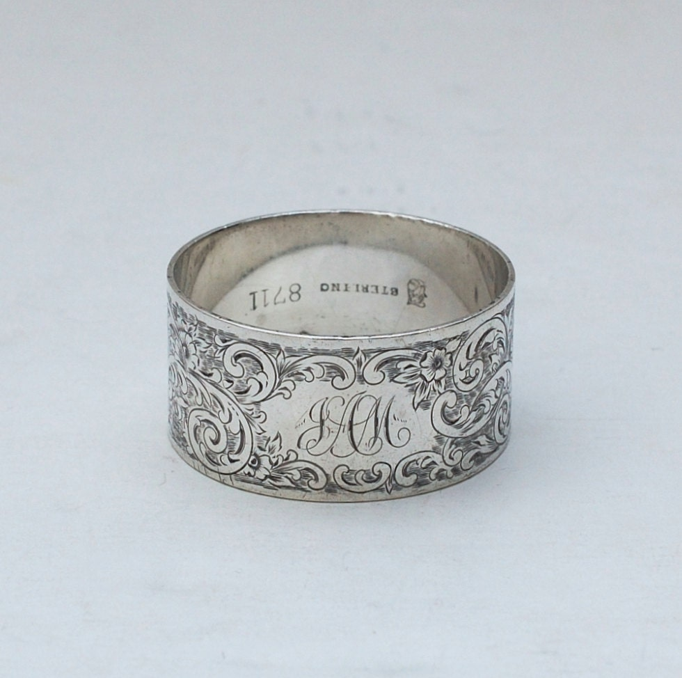 antique towle sterling silver napkin ring