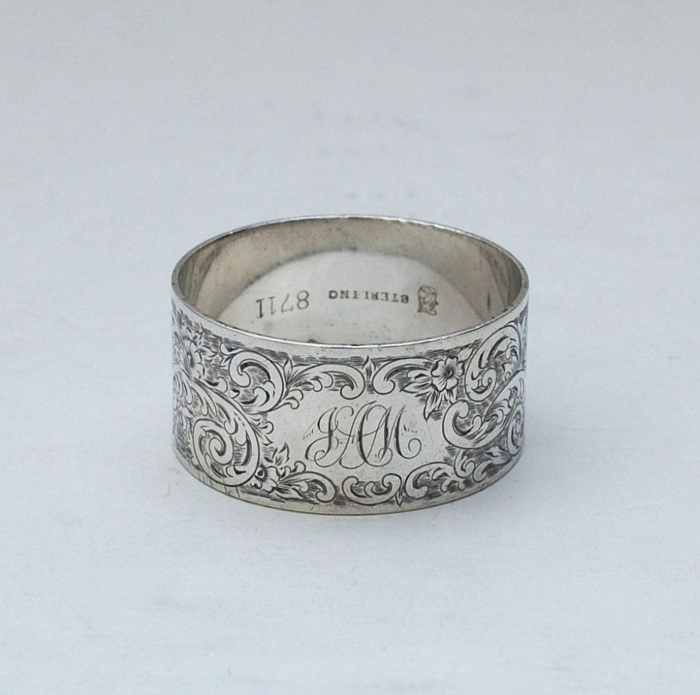 antique towle sterling silver napkin ring by abundancy on etsy