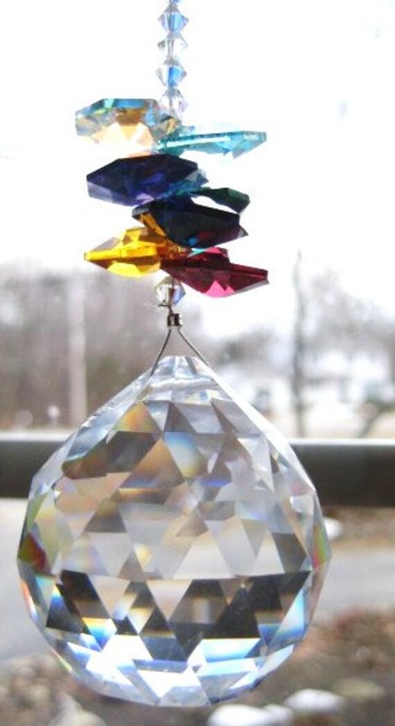 "Swarovski crystal  suncatcher ""Large Rainbow Ball"""