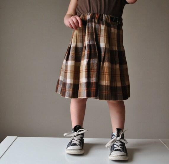 1970s Scottish Wool Kilt, size 2t/3t/4t