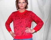 Poinsettia and Daisy Fesitve Frolic Sweatshirt