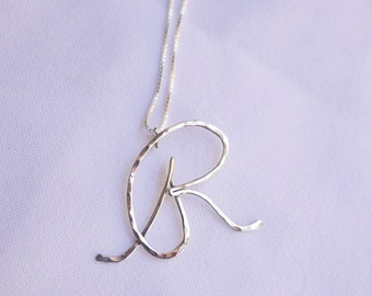R Letter - Sterling Silver Initial Necklaces - by I Heart This Jewelry