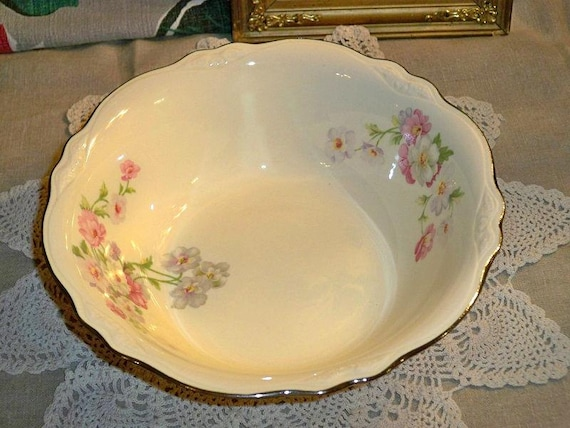 Vintage Homer Laughlin China Virginia Rose Vegetable By