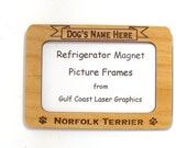 Norfolk Terrier  Dog Magnet Picture Frame