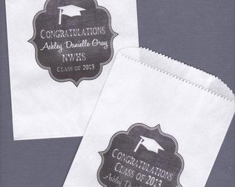 Graduation, Candy Buffet Bag, Favor Bags, Cookie Bar, Treat Bags, Personalized Bags, Graduation Party, Graduation Favor 30 bags