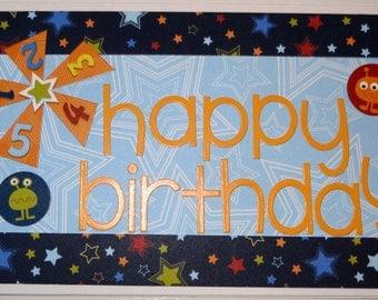 Handmade Birthday Card - Happy Birthday Boy Space