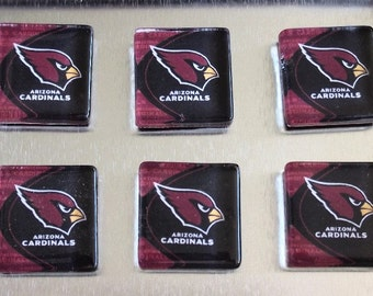 AZ Cardinals - square glass magnet set