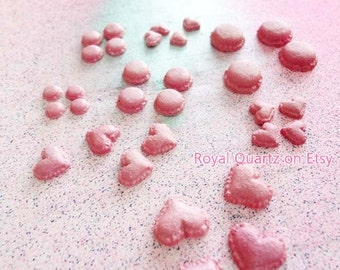 Medium Pink Macaroons . Kawaii, cute, girly supplies for great jewely